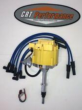Jeep AMC GM HEI Distributor YELLOW + Plug Wires BLUE CJ5 CJ7 YJ ETC 258 4.2L