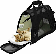 Cat/Dog Carrier Airline Approved Pet Carriers Soft Sided Large Black Travel Bag