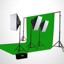 10x20 Chromakey Screen Background Stands Photography Video Softbox Lighting Kit