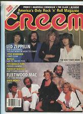 Creem Feb 1983 Led Zeppelin Fleetwood Mac  Judas Priest Calendar Poster MBX6
