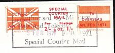 Great Britain Special Courier Mail Stamp - Holland Frank 1971 Nicosia Cover 4x