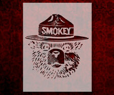 "Smokey The Bear California 8.5"" x 11"" Stencil FAST FREE SHIPPING (584)"