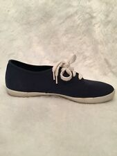 Rebook BOKS Womens Sneaker Size 8 Navy Blue Canvas 4 Eyelet Lace Up Flexible