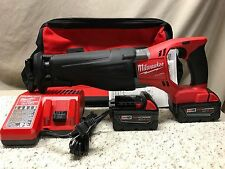 Milwaukee•M18 Volt•2720-22•FUEL SAWZALL® Reciprocating Saw Kit•2-5.0 Batts•New!