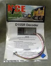 "NCE ""The Power of DCC"" D15SR Decoder 9 pin plug & wiring harness Made in USA NIP"