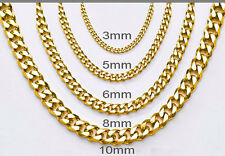 One Day Ship Women Mens Stainless Steel Necklace Curb Gold Chain Bracelet