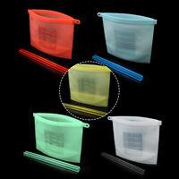 5 Colors Choose Reusable Seal Silicone Food Fresh Bag Vacuum Sealer Storage Bags
