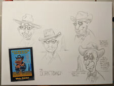 Topps Wacky Packages Movies Dork Tower Signed + Original Character Sketches