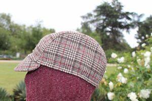 CYCLING CAP 100% WOOL FABRIC MOCA   HANDMADE IN USA, NO FROM CHINA   S M L