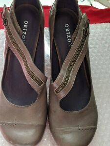 ORIZONTE LADIES SHOE LEATHER UPPER & LINING SIZE 40  VERY COMFORTABLE NEW