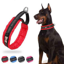 Nylon Training Dog Collar Reflective Soft Padded P chain Slip Pet Collar