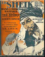""""""" Le Sheik """" Ted Snyder , alte, übergroße Noten"""