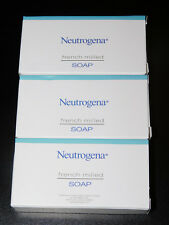 3 - NEUTROGENA FRENCH MILLED TRAVEL SIZE SOAP - Travel Size (New In Box)