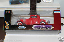 Yat Ming 1932 Ford 3 Window Coupe 1-18-Die Cast Metal Collection Model Red & Box