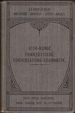 Französische Konversations-Grammatik (Otto-Runge)   1908