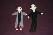 AWESOME Handmade Crochet Doctor Who 1/6 Scale Doll Figures 9th & 10th Doctors