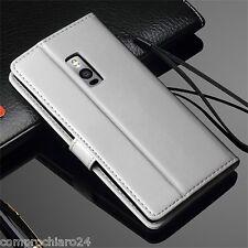 Custodia a Portafoglio in Pelle Bianca per OnePlus 2 - Leather FLIP Cover