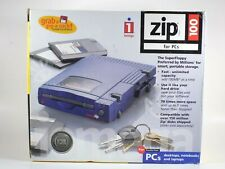 Iomega Zip Drive 100 For Parallel Port Vintage Computer Electronic Y2K Box Wires