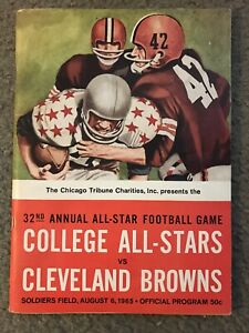 32nd Annual College All-Star Football Game Aug 6 1965