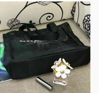 New Black Mesh Makeup Carry Bag Tote Bag Shopping Bag Vip
