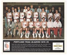 Vintage 1975-76 Portland Trailblazers Team Photo, Walton, Wicks, Petrie, Hollins