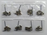 96pcs 7mm length lock pin backs keepers saver fit vest cap hat  motorcycle club
