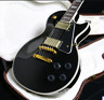 Stock Top Quality LP Custom Electric Guitar Black  Color Gold Hardware Grover
