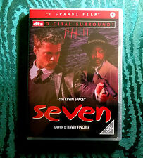 SEVEN(1995) con BRAD PITT, MORGAN FREEMAN, KEVIN SPACEY - DVD prima uscita-NUOVO