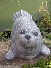 Steinfigur Robbe Seehund Tierfigur Gartenfigur Gartendeko Betonfigur