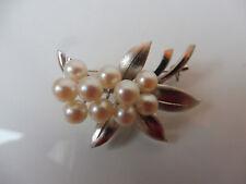 Edle Brosche__925 Silber__mit Perlen__!