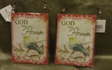 God Bless Our Home Decorative   Pictures Set of Two.