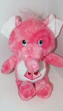 "Care Bears Cousins Lotsa Heart elephant Dark Pink Swirls Plush 2004 10"" tie dye"