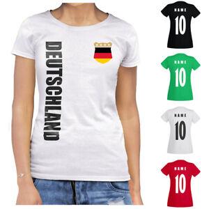 Deutschland WM 2022 Damen T-Shirt Trikot Name Nummer Fussball Team National