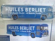"""AUTOBUS """"LE PLK 8 HUILES BERLIET"""" (BUS ATELIER TOUR DE FRANCE 1953)-(1/43 éme)."""