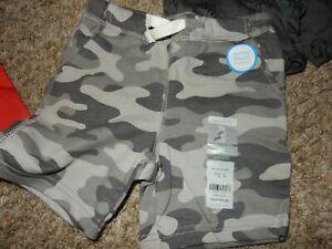 NWT 3T Carter's boys GRAY CAMO Knit Pull On Shorts w/Pockets & Drawstring
