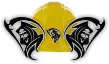 Tribal Grim Reaper Hard Hat Stickers / Motorcycle Welding Helmet Decals (Pair)