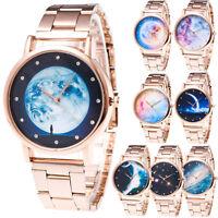 Luxury Women Watch Lady Space Crystal Stainless Steel Quartz Analog Wrist Watch