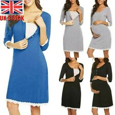 Women Maternity Pregnant Skirt Nursing Lace Nightgown Breastfeeding Dress Skirt
