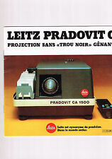 BROCHURE LEITZ PRADOVIT CA 1500