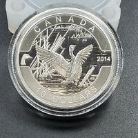 2014 CANADA 10 DOLLARS FINE SILVER COIN COMMEMORATIVE GOOSE BIRD PINTAIL