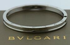 Bvlgari B.Zero1 18K White Gold Bracelet Size M