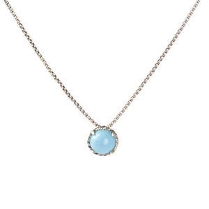 DAVID YURMAN Women's Turquoise Chatelaine Pendant Necklace 8mm NEW