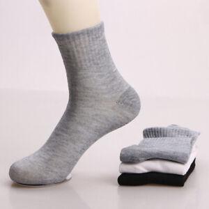 Men Casual Short Ankle Socks Breathable Comfortable Cotton Sock Black Grey White