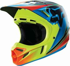 Fox V4 Race Blue Yellow Motocross MX Dirtbike Helmet Small - 50 off