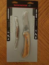 Winchester HEEL SPUR and STAGECOACH Folding Pocket Knife Combo Pack New Sealed