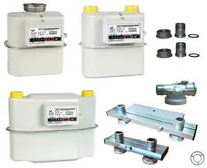 Gaszähler G4 130,250mm Einrohr Zweirohr Zubehör Konsole   mit Zertifikaten