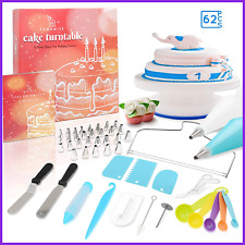 Cake Decorating Turntable All In One Baking Set Including Icing Tips & Bags