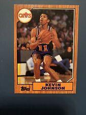 1992-93 Topps Archives #93 Kevin Johnson 1987 Topps Cavalier