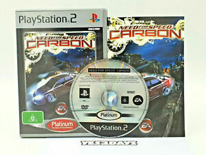 SONY PlayStation 2 Game Need For Speed Carbon - Platinum MINT Game Disc+Manual
