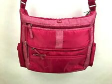 Lug Hula Hoop Diaper Bag Pink Messenger Cross Body Carry All